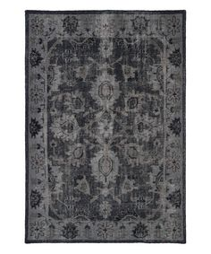 This Black Restoration Wool Rug is perfect! #zulilyfinds
