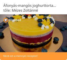 Áfonyás-mangós joghurttorta chiapudinggal Mango, Cheesecake, Invite, Desserts, Food, Manga, Tailgate Desserts, Deserts, Cheesecakes