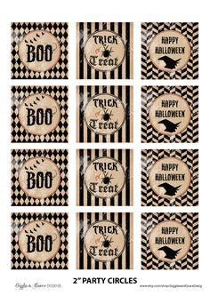 Free Halloween party printables! #free #halloween #printables
