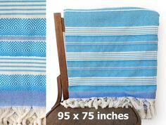 Bedspread XX LARGE Throw Blanket PESHTEMAL Beach Blanket Turkish Towel