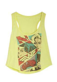 dc women's tank top | dELiAs > DC Comics Pop Art Girls Tank > tops > ... | Women's Aspirati ...