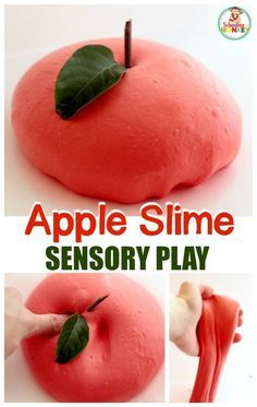Kick off the fall season with this super fun fluffy apple slime! Kids will love combining science and sensory experiences in this STEM activity.