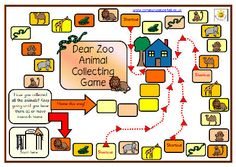 Simple board game with full instructions. Uses PCS symbols throughout. Links to the book Dear Zoo