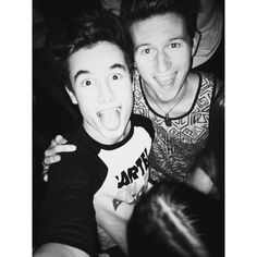 Kian Lawley(left), and Ricky Dillon(right). Together, they make the world laugh. I like both of them. :)