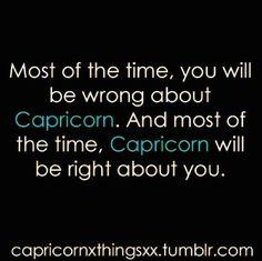 Capricorn...