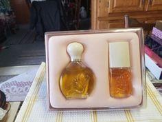 vtg REVLON JONTUE GIFT BOXED SET raised flower on the bottle Perfume Sets, Vintage Perfume, Revlon, Flower, Bottle, Gifts, Ebay, Presents, Flask