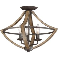 Traditional warmth meets industrial minimalism in the Shire collection. The rubbed black edges on the faux wood frame complements the rustic black finish of the inner rings. Curved arms and candelabra bulbs add classic charm to the chic simplicity of the drop silhouette.