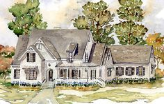 Find blueprints for your dream home. Choose from a variety of house plans, including country house plans, country cottages, luxury home plans and Luxury House Plans, Best House Plans, Dream House Plans, House Floor Plans, Southern Living House Plans, Country House Plans, Country Farmhouse Decor, Farmhouse Plans, Country Living