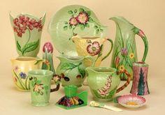Pretty sure my platter is Carlton Ware Salad Ware Vintage Crockery, Vintage Dinnerware, Vintage Ceramic, Vintage Antiques, Antique China, Vintage China, Ceramic Pottery, Pottery Art, English Pottery