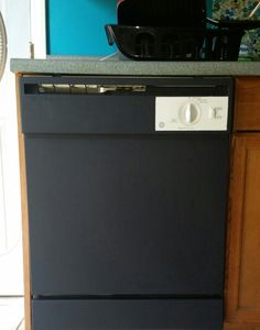 Need to do this with our dishwasher /chalkboard painted dishwasher.