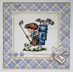 LOTV - Playing Golf with Winter Wishes Paper Pad and Sentiments and Family Sentiment Tags by Kat Waskett Happy Birthday Tag, Golf Birthday Cards, Handmade Birthday Cards, Male Birthday, Golf Cards, Men's Cards, Hobby House, Beautiful Handmade Cards, Fathers Day Cards
