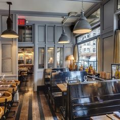 Cole's Greenwich Village Cafe, NY, brought to our attention by Christina of Greige blog