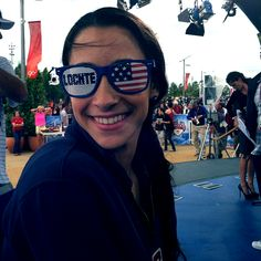 USA Team in London 2012 || Aly Raisman with her Lochte sunglasses