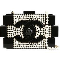 Chanel Vintage 'Brick' pearl clutch