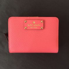Brand new Kate spade pink wallet Perfect condition! Fast same or next day shipping! kate spade Bags Wallets