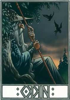 The Norse Mythology Online Library Featured Free eBook The Poetic Edda Translated by Henry Adams Bellows Read Online Norse Runes, Odin Norse Mythology, Rune Viking, Les Runes, Norse Pagan, Viking Life, Old Norse, North Mythology, Thor