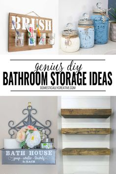 Love these genius bathroom organization tricks and easy diy storage solutions. SO many inexpensive ideas to get the bathroom organized with dollar store supplies. Bathroom Storage Solutions, Bathroom Organization, Organization Hacks, Organizing Ideas, Diy Wall Decor, Entryway Decor, Bedroom Decor, Cheap Home Decor, Diy Home Decor