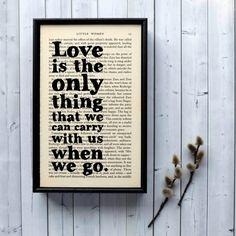 Plakát v dřevěném rámu Little Women Love   Bonami