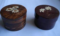 Caixas redondas (wood work - Boxes)