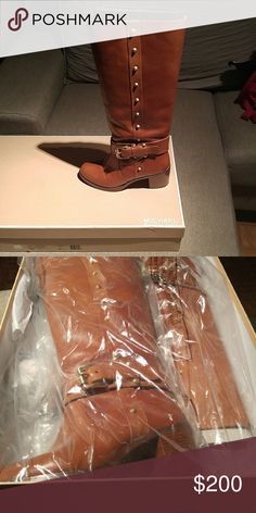 $FLASH SALE$ MK dark coffee charm riding boots FLASH SALE!!!!!!!! LIKE NEW dark coffee charm riding boots size 7M worn once. Minor wear and tear. MICHAEL Michael Kors Shoes Combat & Moto Boots