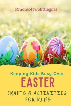 Easter crafts and activities to keep kids busy during lockdown. Easter crafts, crafts for kids and mess free crafts for mums! Outdoor Activities For Kids, Easter Activities, Easter School Holidays, Paper Flower Garlands, Easter Colouring, Spring Crafts For Kids, Egg Crafts, Business For Kids, Halloween Costumes For Kids