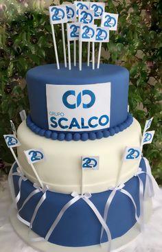 Bolo corporativo , festa de aniversário de empresa . WhatsApp (11)999523289