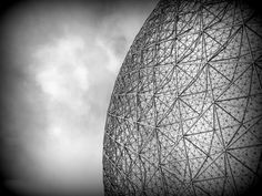 Montreal Biosphere - Inside the grid ball by Ludovic Farine on 500px