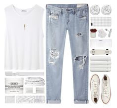 """Sanctus"" by azures ❤ liked on Polyvore featuring T By Alexander Wang, Converse, rag & bone/JEAN, Brinkhaus, Supersmile, Kiehl's, Forever New, Love, Linum Home Textiles and Threshold"