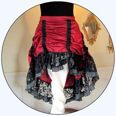 Extra Large Bustle Skirt with Steampunk di TalismanaDesigns, $80.00