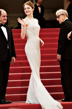 CannesFilmFestival 2015 - Emma Stone (Woody Allen on the right)
