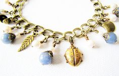 Just gorgeous charm bracelet nature inspired jewelry by TwigsAndLace