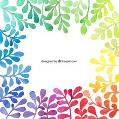 Amalli Pintada a mano de fondo coloridas plantas