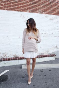 15 maternity sweater outfits that look stylish . - 15 maternity sweater outfits that look stylish # stylish - Maternity Sweater Dress, Cute Maternity Outfits, Stylish Maternity, Maternity Wear, Maternity Dresses, Maternity Looks, Maternity Sweaters, Maternity Styles, Maternity Swimwear
