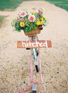 the #getaway #bicycle | Photography by annerobertphotography.com, Design and Styling by http://www.weddingsandeventsbliss.com, Florals by http://www.singingfrogfarm.com  Read more - http://www.stylemepretty.com/2013/08/16/1950s-style-picnic-from-anne-robert/