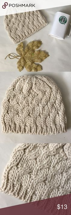 Think Fall! Knitted Hat! New! Think Fall and winter with this warm cozy knitted hat! Cream color! Matches everything! New! boutique Accessories Hats