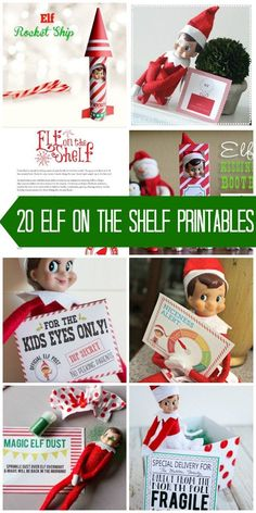 Printables that every Elf on the Shelf enjoys using as props. Grab these printables for your Christmas elf!