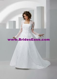 Style E8059 » Wedding Gowns » DaVinci Bridal » Available Colours : Ivory, White (Shown with Coat/Jacket)