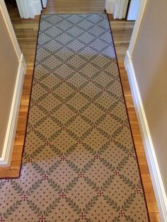 Check out our latest hall and stair job from Woburn, MA! For more information, like The Carpet Workroom on Facebook. https://www.facebook.com/CarpetWorkroom