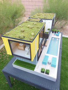 Container House - a custom container beach home designed for a client in Melbourne, Australia. Meant to be an artpiece, although I am seriously considering starting a Kickstarter campaign to have it built as a vacation rental in Las Vegas. Building A Container Home, Container Buildings, Container Architecture, Container House Plans, Container House Design, Architecture Design, Shipping Container Design, Shipping Containers, Container Conversions