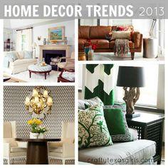 Home Decor Trends for 2013 via Crafty Texas Girls