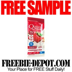 ►► FREE SAMPLE - Quest Protein Powder Packets - FREE Supplement Sample by Mail ►► #Free, #FREESample, #FREEStuff, #Freebie ►► Freebie-Depot