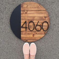 So I know house number plaques is not a new concept. I do know, however, that incorporating a steel accent on a house number plaque was an idea I just had First Home, My Dream Home, Curb Appeal, Home Projects, Diy Home Decor, Home Improvement, Sweet Home, New Homes, House Styles