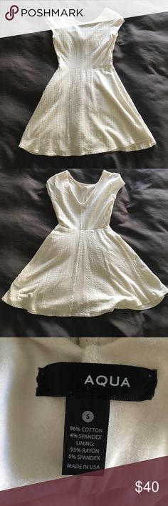 White Aqua Sundress Selling a super cute white sundress by Aqua. Purchased at Bloomingdale's and worn once to the Kentucky Derby. It is a size small and VERY stretchy! Aqua Dresses Mini