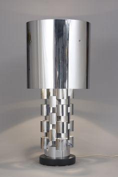 """Résultat de recherche d'images pour """"travertine table lamp, by Sormani, c1970"""""""