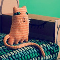 Bibelot: Learn to knit Ginge Marmalade the Cat from Donna Wilson's new book. #Tutorial