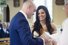 The bride & groom exchange rings during the wedding ceremony. Weddings at Cabra Castle photographed by Couple Photography. Glenda, Love At First Sight, Couple Photography, Bride Groom, Wedding Ceremony, Castle, Couple Photos, Couples, Rings