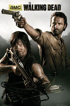 Walking Dead Rick Daryl A - Official Poster. Official Merchandise. Size: 61cm x 91.5cm. FREE SHIPPING