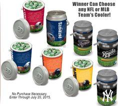 Win an NFL or MLB Mega Can Cooler, Valued at $138! (Choose Any Team)