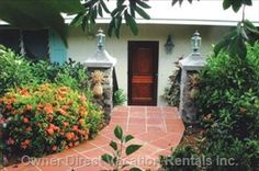 House surrounded by lush, tropical gardens perfect for a springtime vacation. With West Indies styled bedrooms! West Indies Style, Tropical Gardens, Us Virgin Islands, How To Get Warm, Vacation Rentals, Spring Time, Lush, Bedrooms, Villa