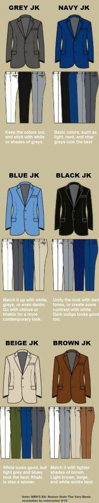 Matching Pants With Jackets